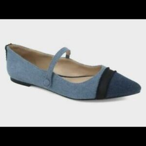 Who What Wear Nellie Denim Mary Janes NWT